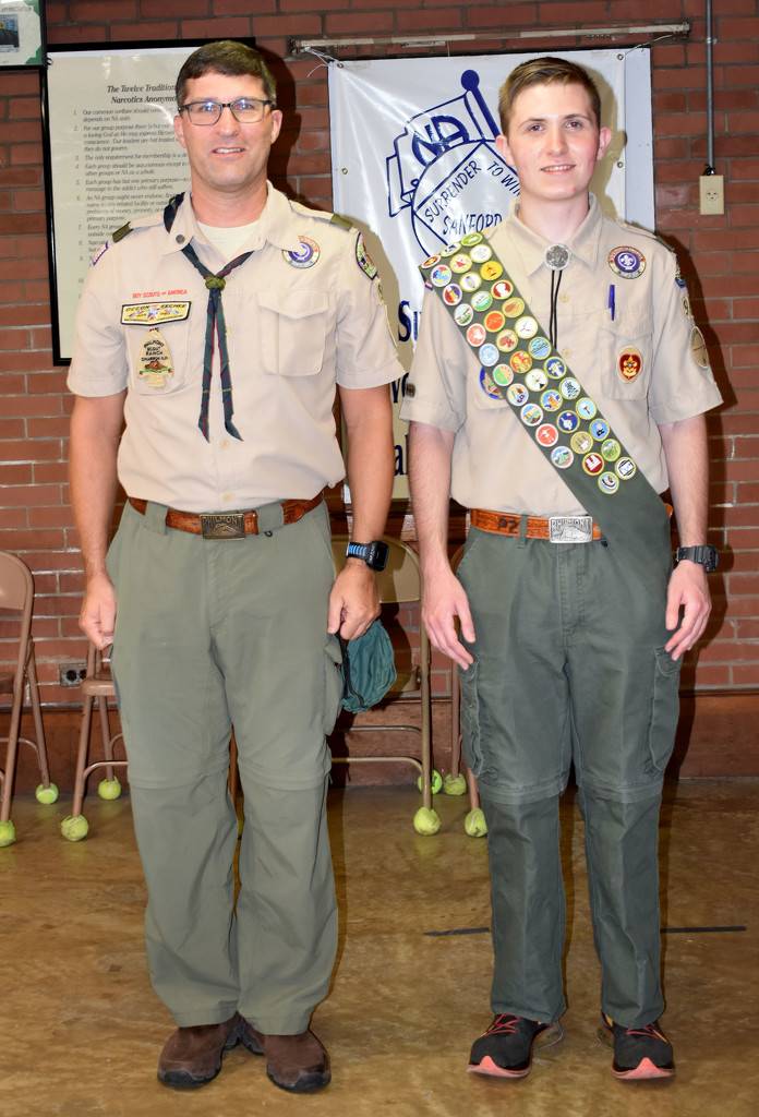 Scoutmaster and newest Eagle Scout by homeschoolmom