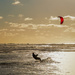 Late afternoon Kite surfing