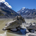 Inukshuk at Mount Cook Glacier