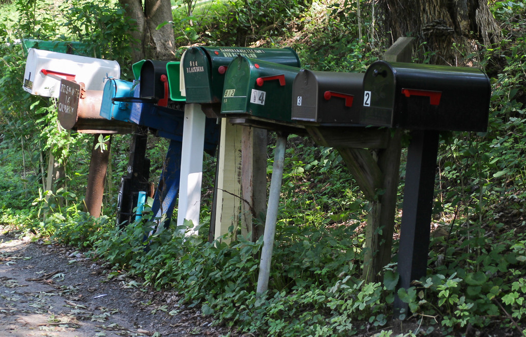Mailboxes by mittens