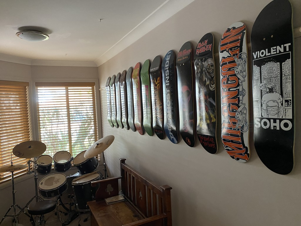 Neil's skate deck collection by sugarmuser