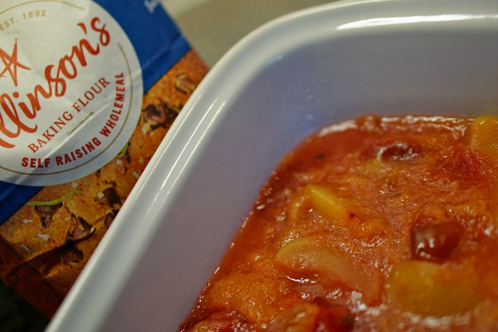 fruit cobbler: Victoria plums, nectarines and apples by quietpurplehaze