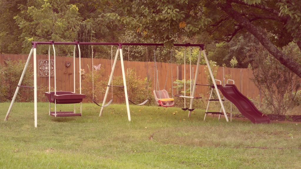 Swingset next door by randystreat