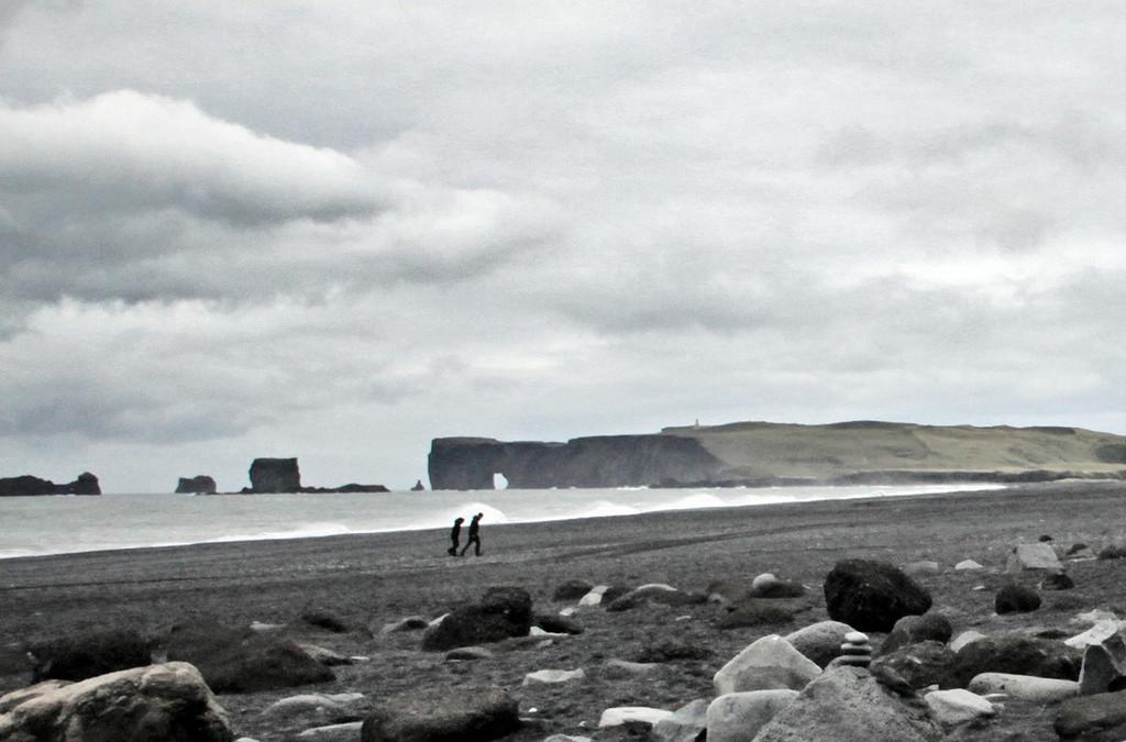 Black Stone Beach Iceland by gardencat