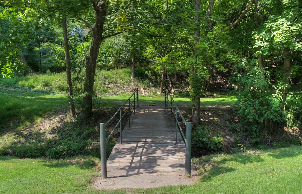 Bridge crossing the creek by mittens