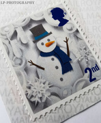 25th Sep 2020 - S Is For Snowman And Snowflake Second Class Stamp!