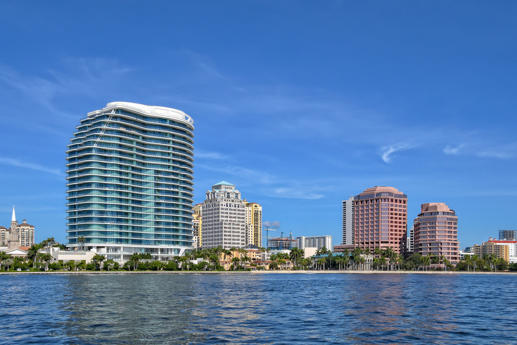 West Palm Beach partial skyline by danette