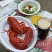 Patio lobster party amid rain showers
