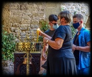 29th Sep 2020 - Lighting Candles At The Monastery Of Toplou,In Memory Of George