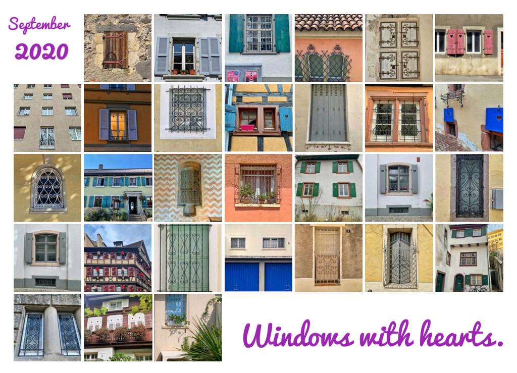A month of windows with hearts.  by cocobella