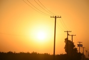 28th Sep 2020 - Smokey Sunset in central California