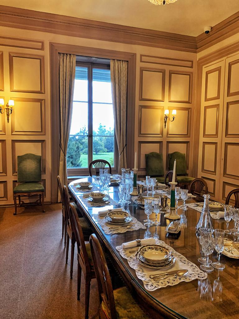 Golden dining room.  by cocobella