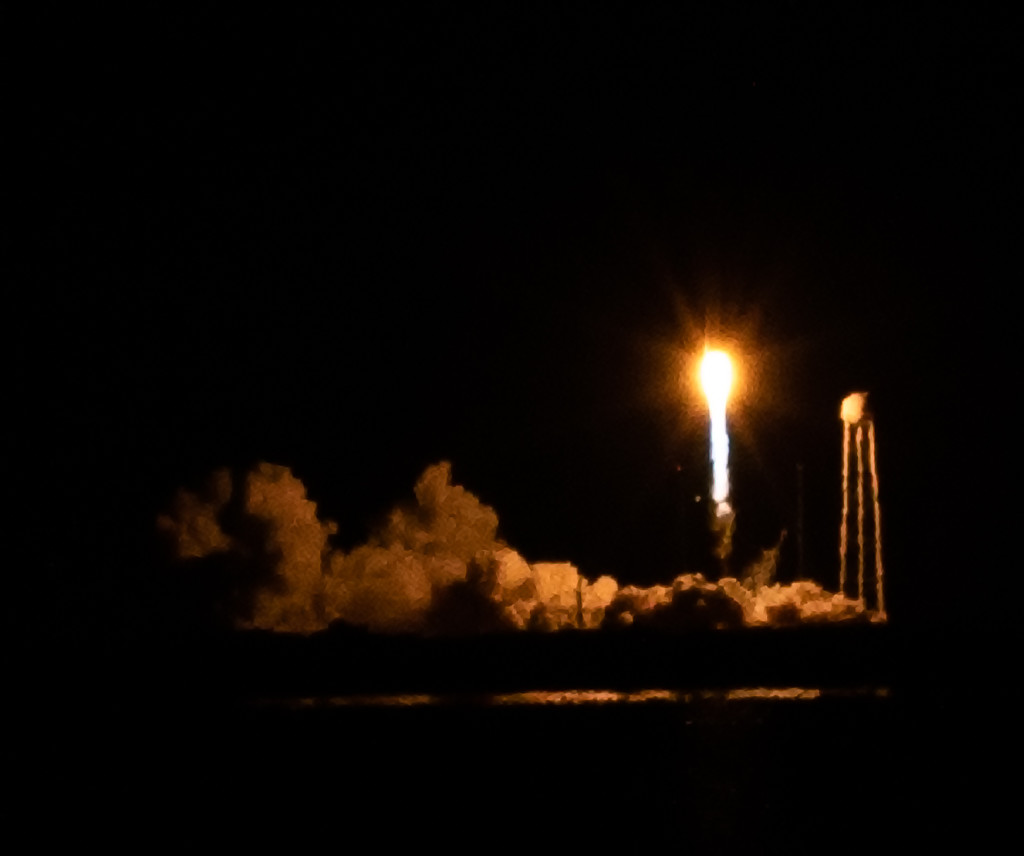Antares Rocket Launch by shesnapped