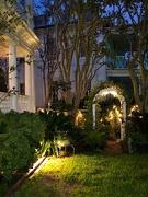 2nd Oct 2020 - Mansion garden at night, Charleston historic district