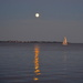 Full moon over Charleston Harbor