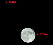 2nd Oct 2020 - Moon and Mars