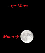 2nd Oct 2020 - Mars and the Moon