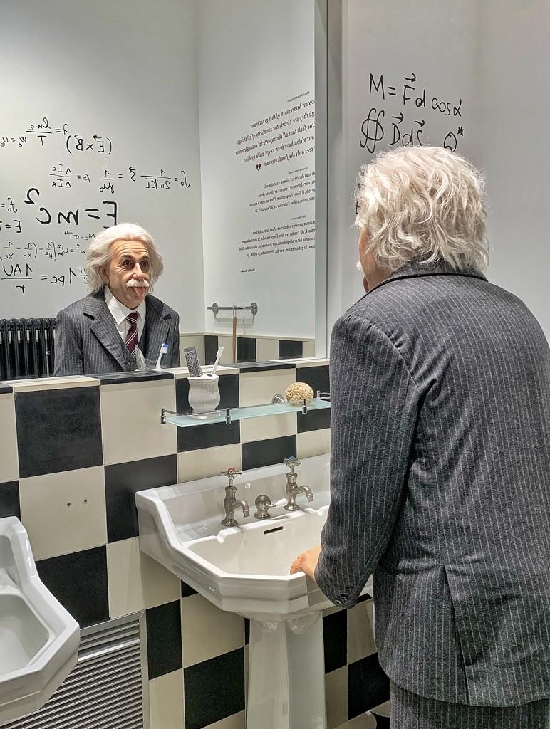 Albert having fun in the bathroom.  by cocobella