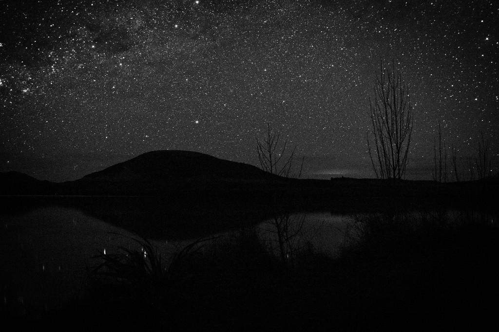 Night sky reflections by kiwinanna