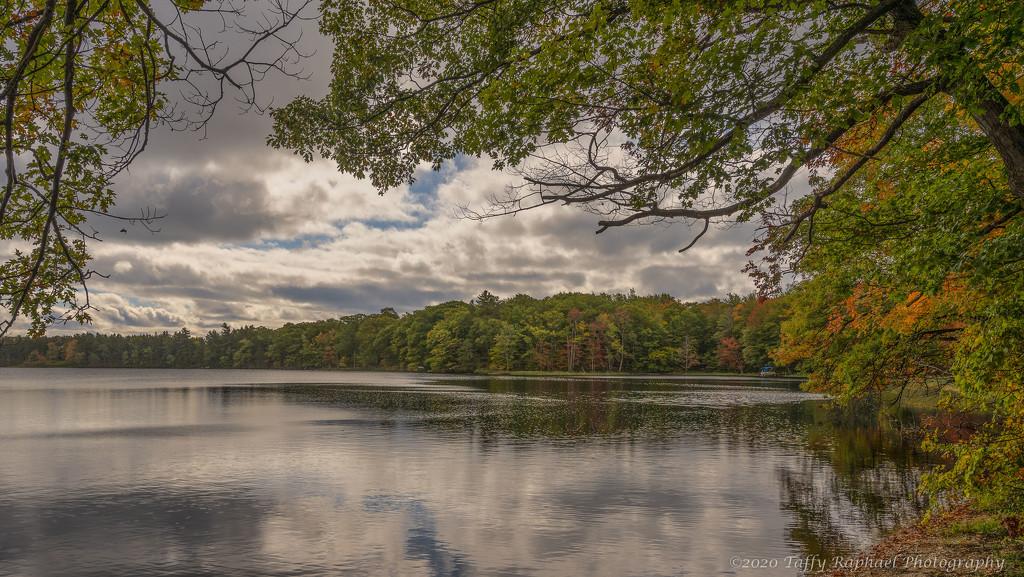 Framing Fox Lake in Fall by taffy