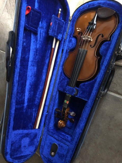 One tenth size violin by nicolaeastwood