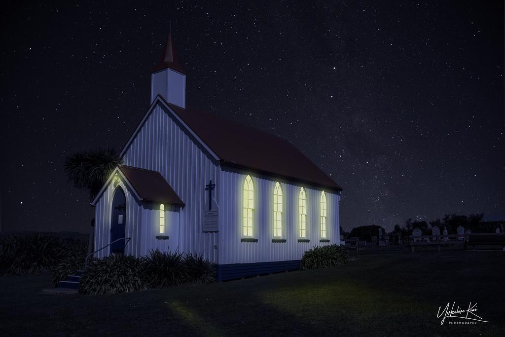 Awhitu Church day to night by yorkshirekiwi