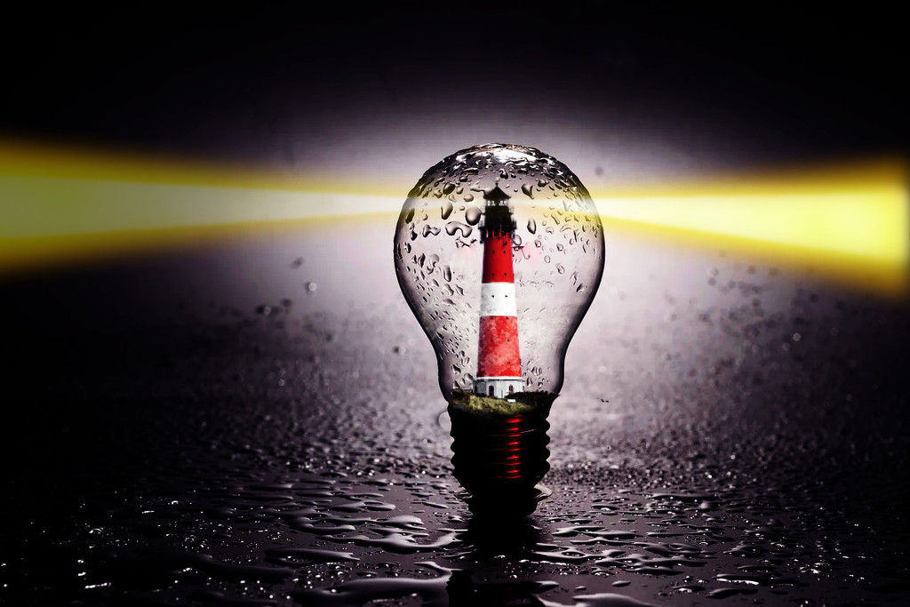 lighthouse in a bulb by bybri