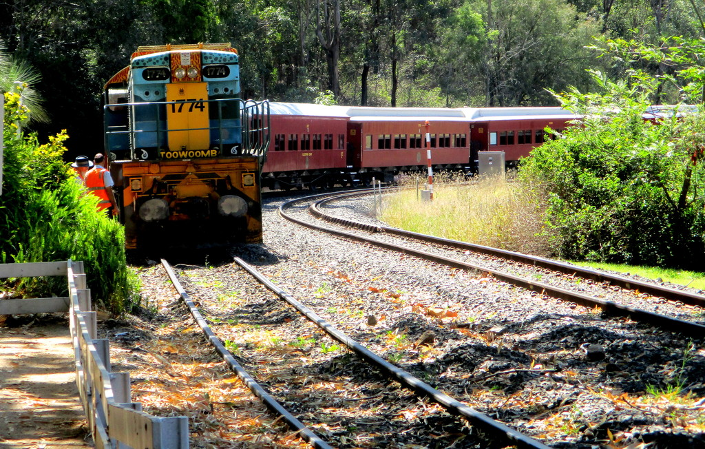 This is the historic Spring Bluff train that takes tourists to Toowoomba by 777margo