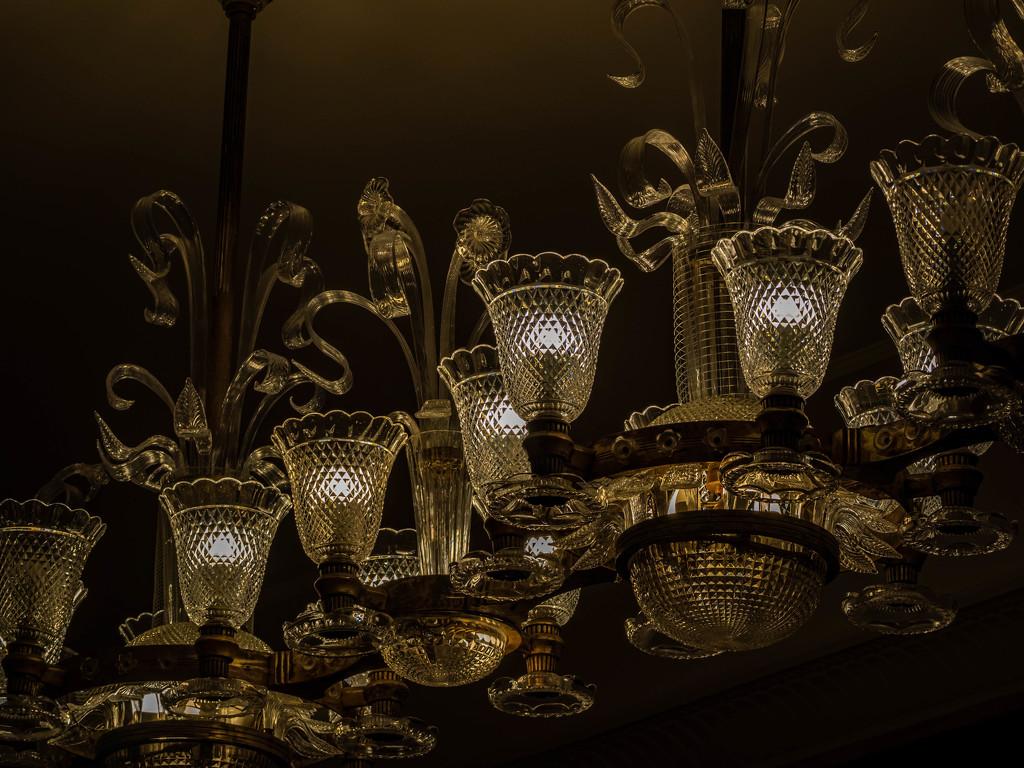 Glass chandeliers by haskar