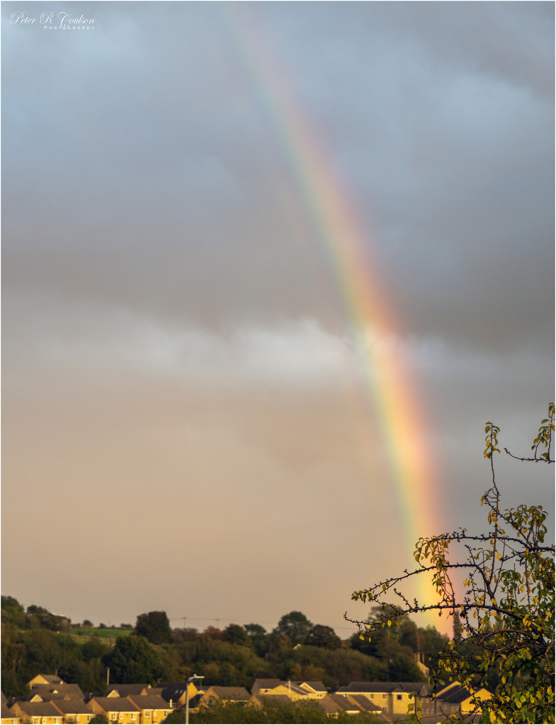Rainbow in the village by pcoulson