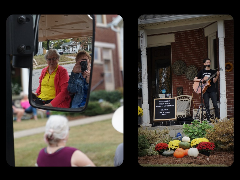 Sue and I took pictures at the Front Porch Music Festival by tunia