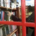 The girl in the telephone box