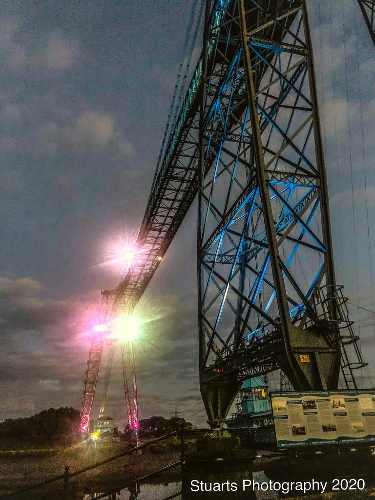 Transporter Bridge all lit up by stuart46