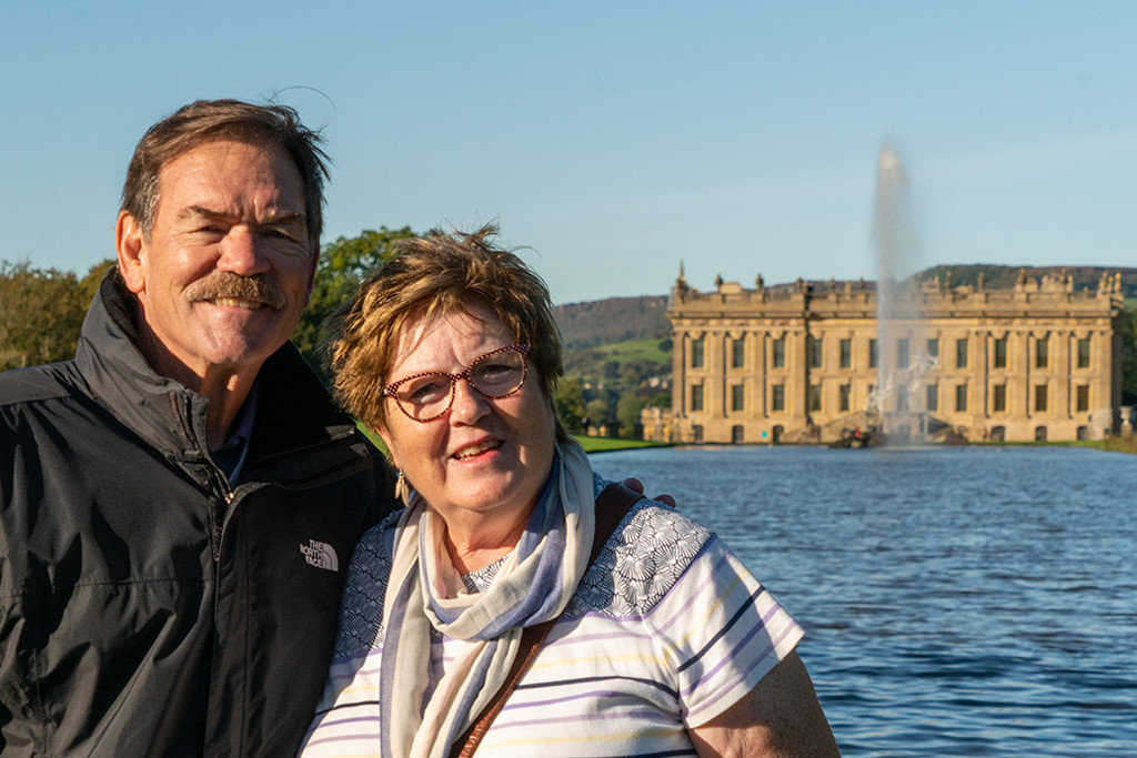 Ken, me and Chatsworth by pamknowler