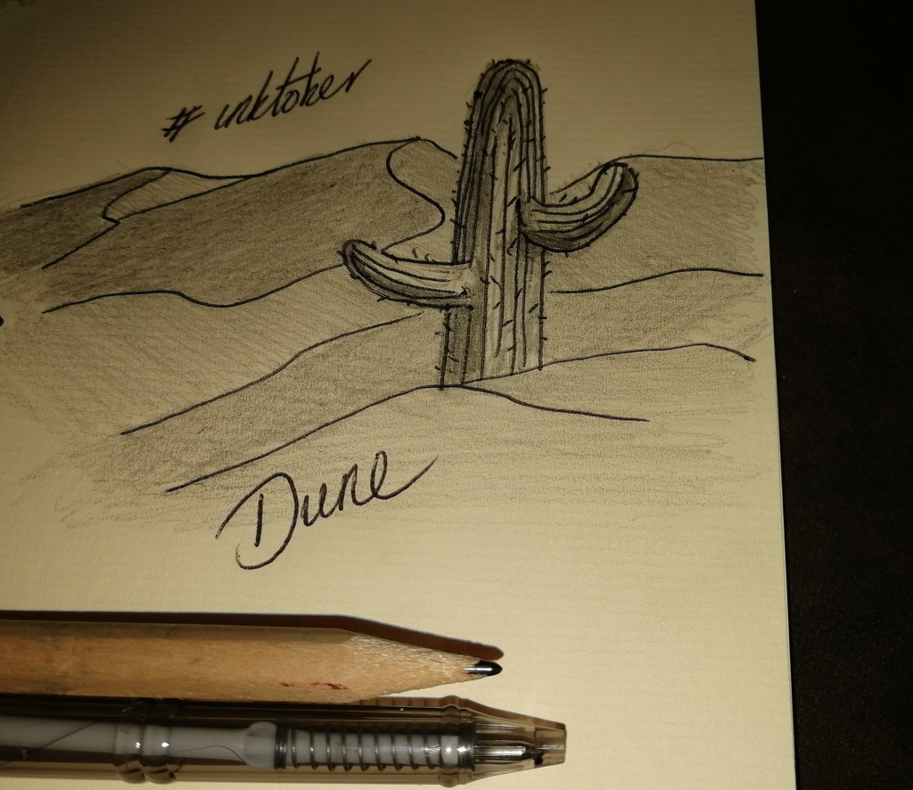 #inktober2020 Today word is Dune. No time today so a quick cartoon by ilovelenses