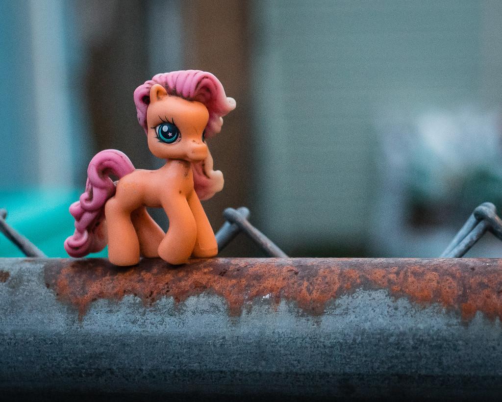 Precarious Little Pony by mamazuzi
