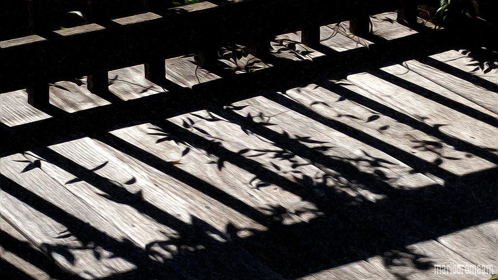 Painted deck railing shadows... by marlboromaam