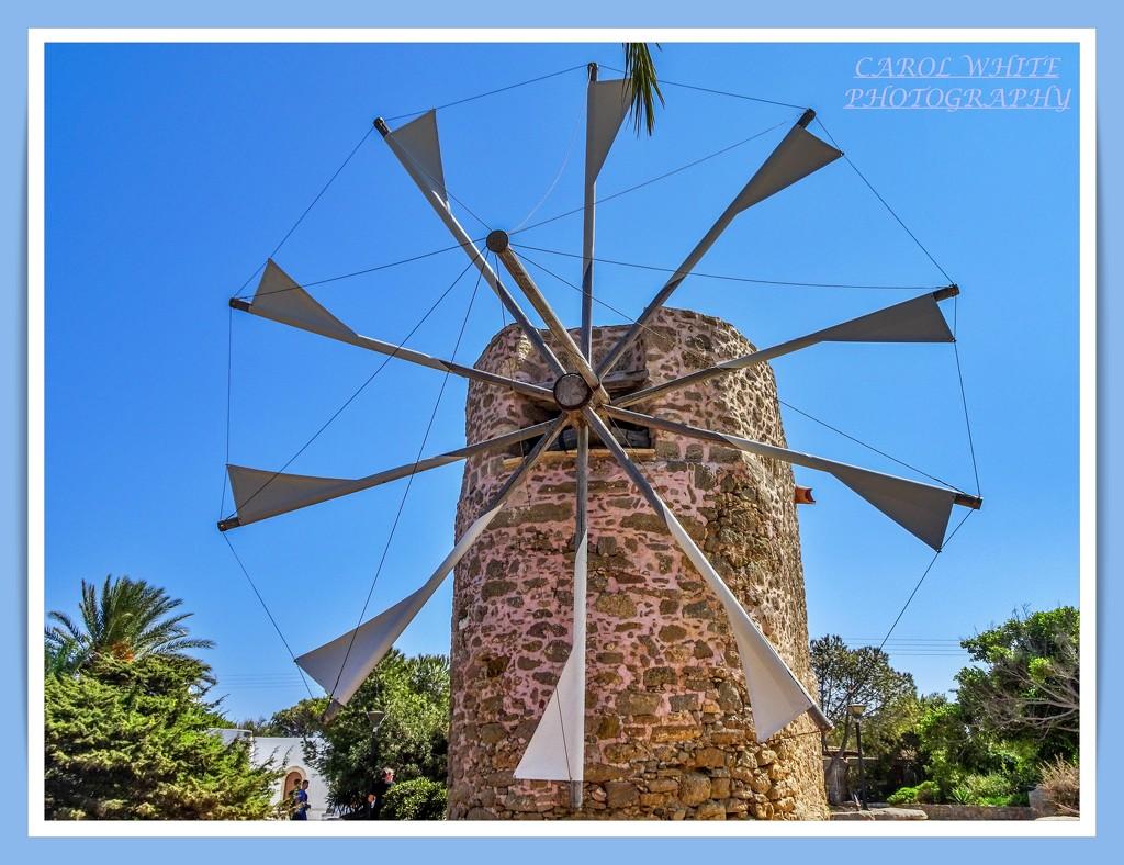 Windmill,Toplou Monastery,Crete by carolmw