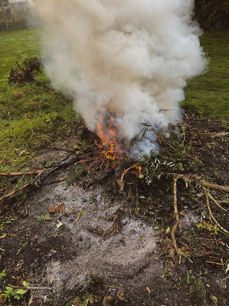 Garden Bonfire by thistle01
