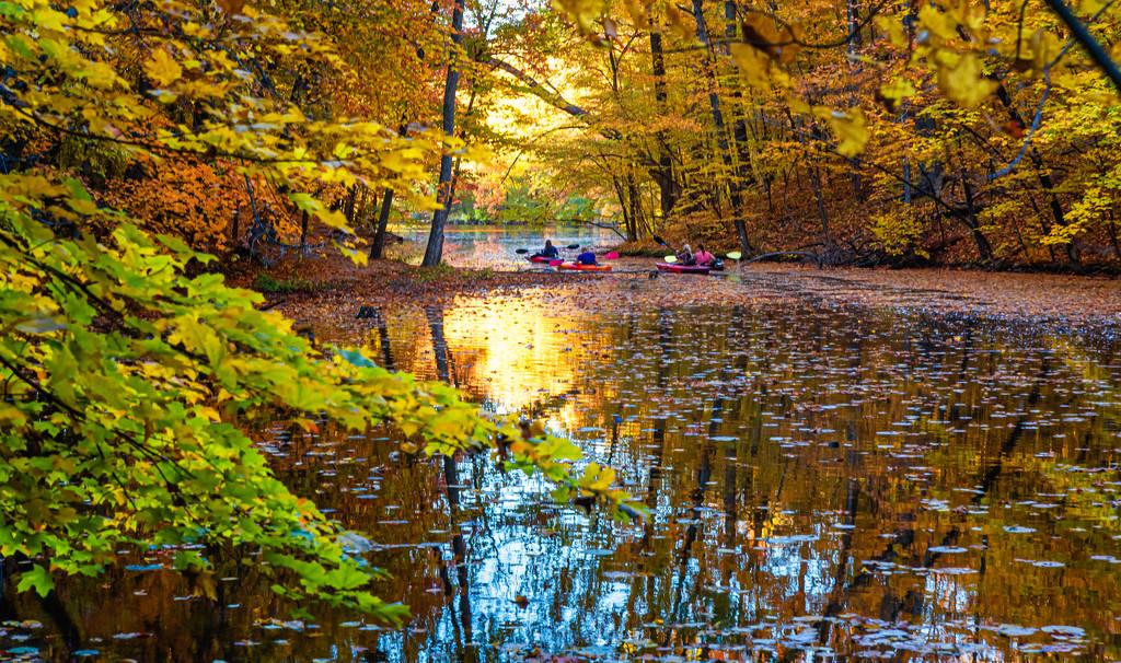 kyak on golden waters- by myhrhelper