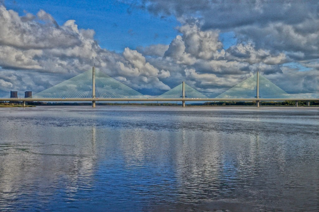 MERSEY GATEWAY WITH COLOUR by markp