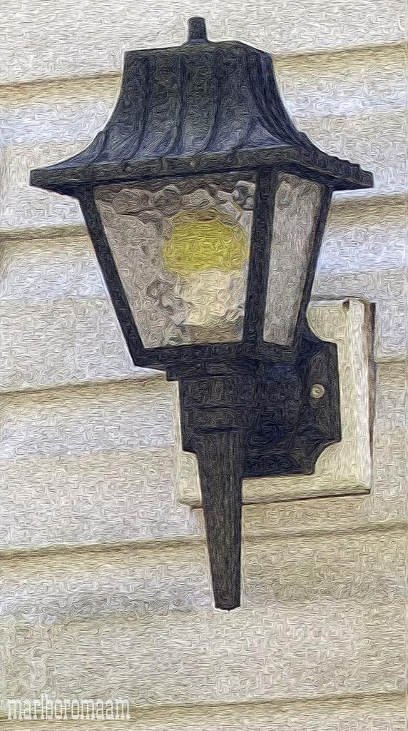 Painted outdoor lamp... by marlboromaam