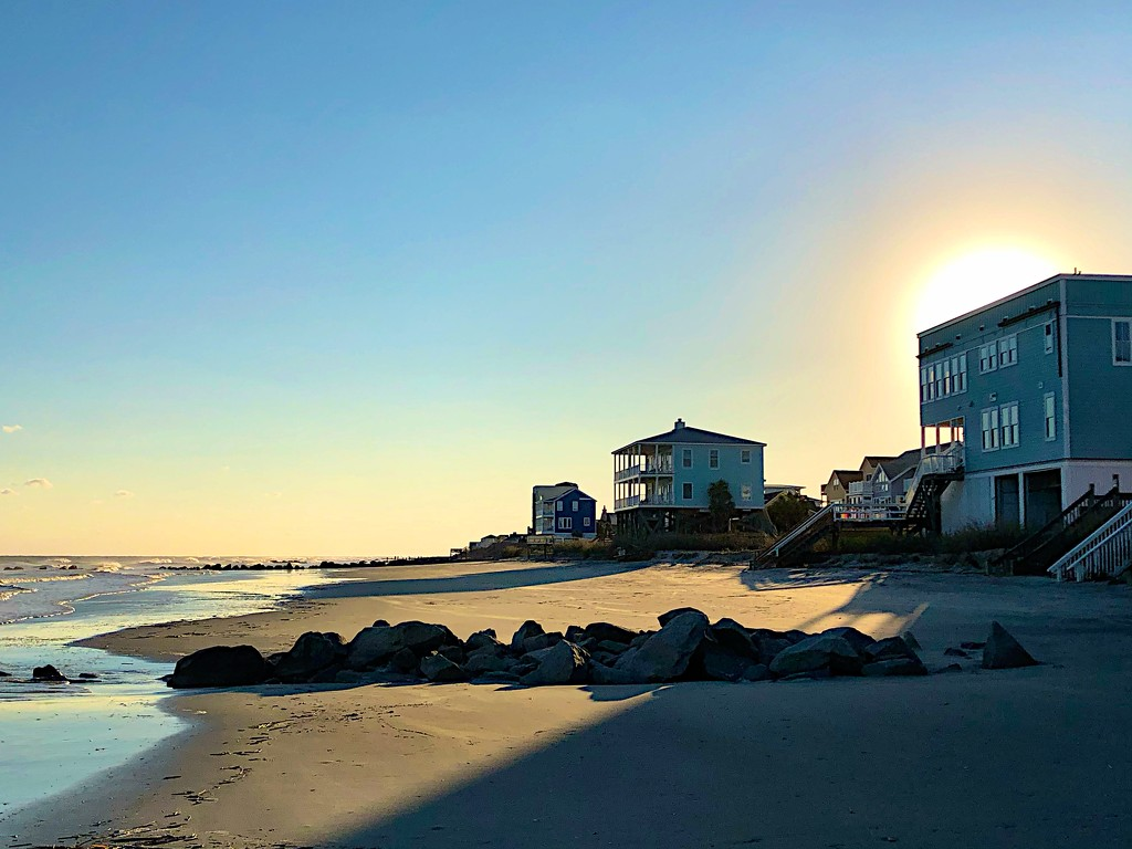 Late afternoon shadows on the beach by congaree