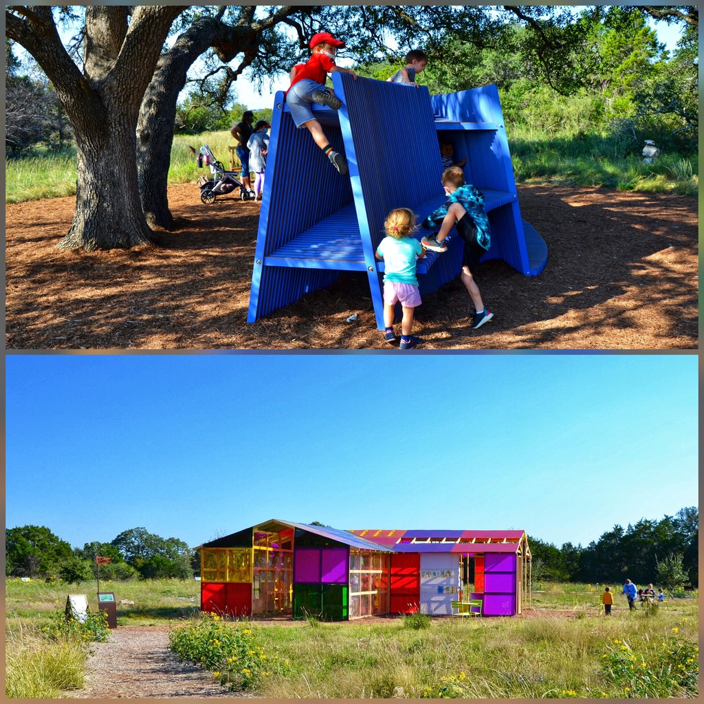 Fortlandia - the children's play area at the Wildflower Center by louannwarren