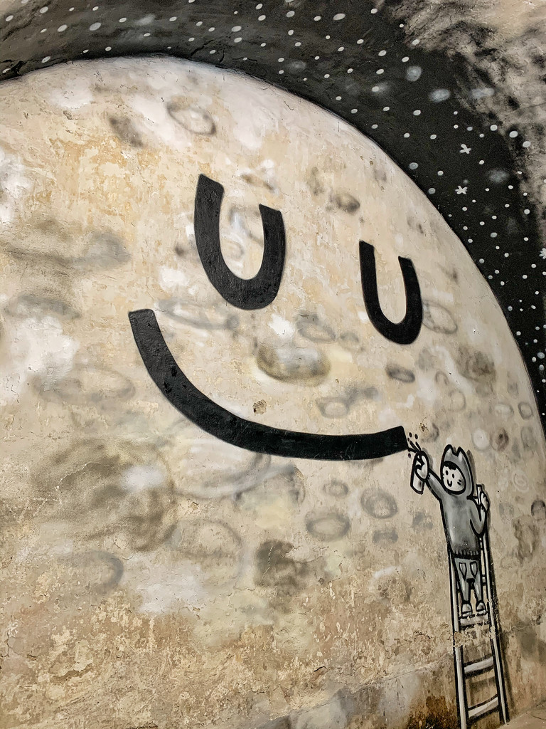 A smile on the moon.  by cocobella