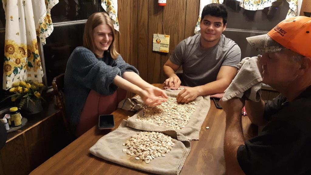 Making Pumpkin Seeds by julie