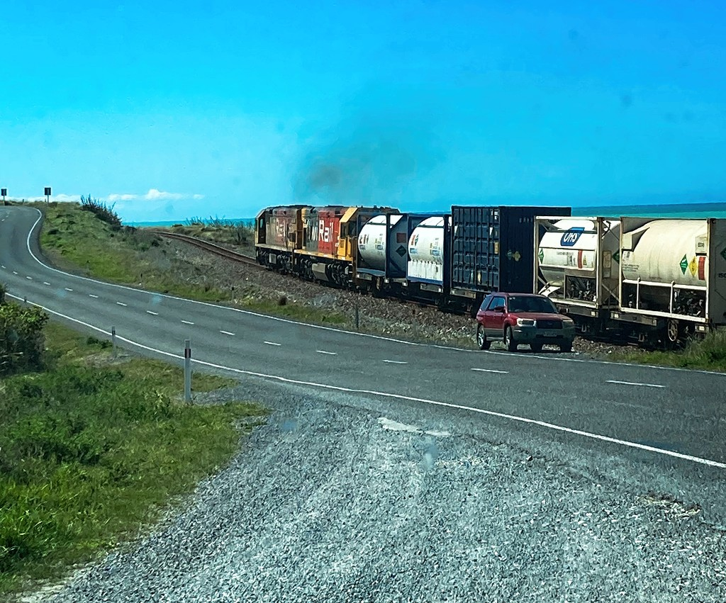 Racing the train home by kiwinanna