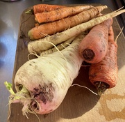 4th Oct 2020 - Parsnips and carrots