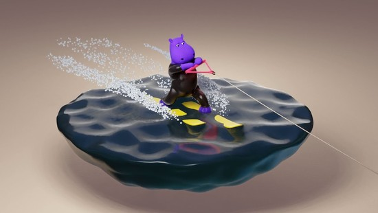 22nd Oct 2020 - Water -Skiing Hippo