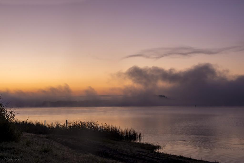 Sunrise at Lake Whangape by nickspicsnz